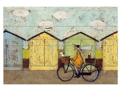 Sam Toft Off For A Breakfast Wooden Wall Art 40 x 59cm