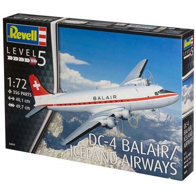 REVELL DC-4 Balair / Iceland Airways 1:72 Aircraft Model Kit - 04947