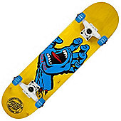 Santa Cruz Screaming Hand Regular Yellow 7.5 Inch Complete Skateboard