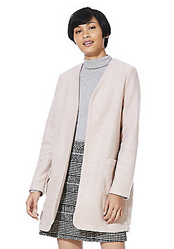F&F Collarless Boucle Jacket - Pink