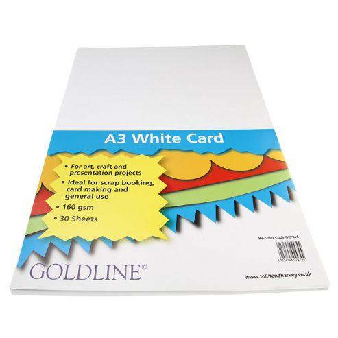 White Card A3 160gsm - 30 Pk