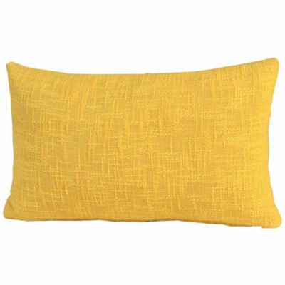 Homescapes Nirvana Cotton Yellow Cushion Cover, 30 x 50 cm