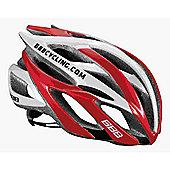 BBB BHE-01 - Falcon Team Helmet (Red & White, 52-55cm)