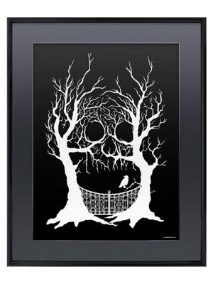 Hidden Skull Gloss Black Framed Poster 40x50cm