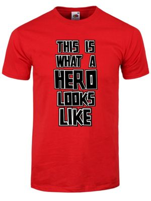 This Is What A Hero Looks Like Fathers Day Red Men's T-shirt