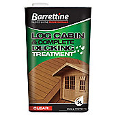 Barrettine Log Cabin & Complete Decking Treatment, Clear, 5L