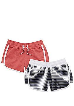 F&F 2 Pack of Runner Sweat Shorts - Multi