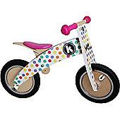 Kiddimoto Kurve Balance Bike (Pastel Dotty)