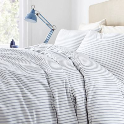 Buy Red Ticking Stripe Duvet Set Double From Our Double
