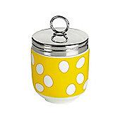 DRH Egg Coddler/Egg Poacher in Yellow Spotty Design 990112G+1570