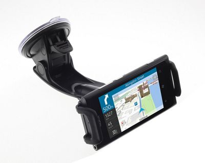Works with Nokia Licensed Clamp Cradle and Flexible Arm with Suction Cup for Universal Nokia Smartphones - Black