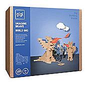 GIGI Bloks Giant Interlocking Cardboard Building Blocks (100 Blocks)