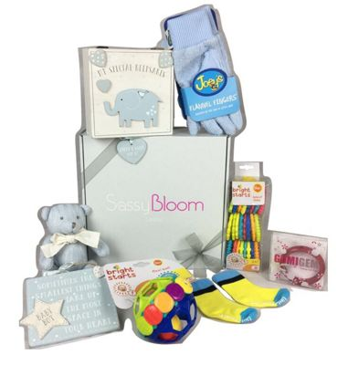 Sassy Bloom Luxury Baby Gift Box, Blue
