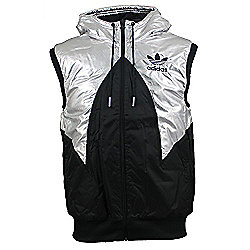Adidas Originals Mens Padded Hooded Gilet Jacket Black