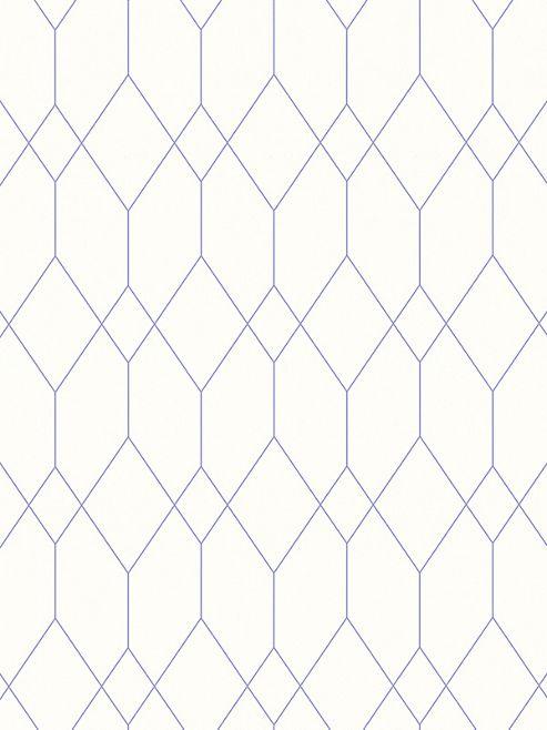 Geometric Diamond Wallpaper White / Purple Esprit 32792-3
