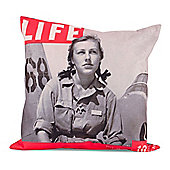 LIFE® Scatter Cushion - WW2 Female Pilot