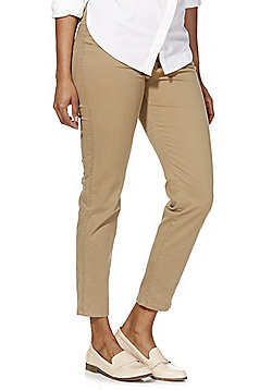 F&F Twill Ankle Grazer Trousers - Camel