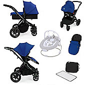 ickle bubba Stomp V2 AIO Travel System/Bouncer Combo - Blue (Black Chassis)