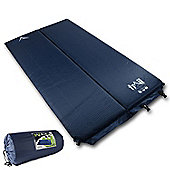 Trail 5cm Double Self-Inflating Camping Mat - Blue