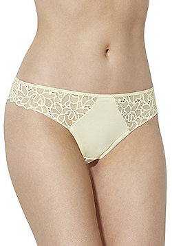F&F Floral Lace Thong - Lemon yellow