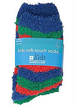 Soft Touch Kids Childrens Boys Girls Comfortable Breathable Soft Socks 2 Pack - Green