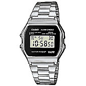 Casio Men's Digital Watch - Silver with Black Face