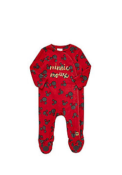Disney Baby Minnie Mouse Fleece All in One - Red