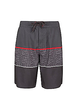 Mountain Warehouse Ocean Printed Mens Boardshorts - Grey