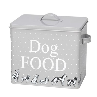 Polka Dogs Print Treat Tin And Scoop Xl