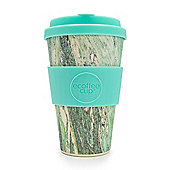 Ecoffee Cup Marmo Verde with Turquoise Silicone 14oz