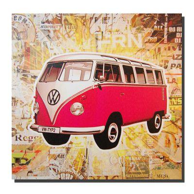 Novus Imports Red Camper Van Canvas Print