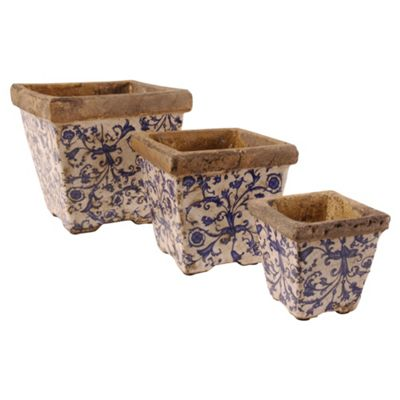 Fallen Fruits Ceramic Flower Pot X 3