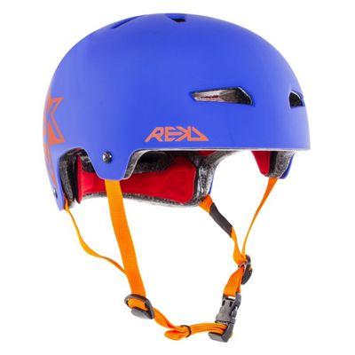 REKD Elite Icon Helmet - Blue/Orange - Medium (56-57cm)