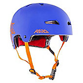 REKD Elite Icon Helmet - Blue/Orange - Medium (56-57cm)