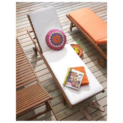 Windsor Wooden Sun Lounger & Cushion