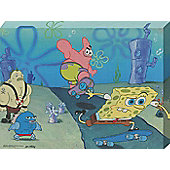 SpongeBob SquarePants Skateboard Mayhem! Canvas Print