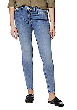 F&F Push-Up Low Rise Skinny Jeans - Light wash
