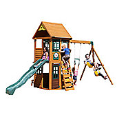 Selwood Path Climbing Frame - Slide, Swings and Lower Playhouse