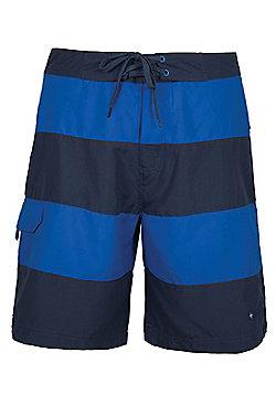 Stripe Mens Boardshorts - Blue