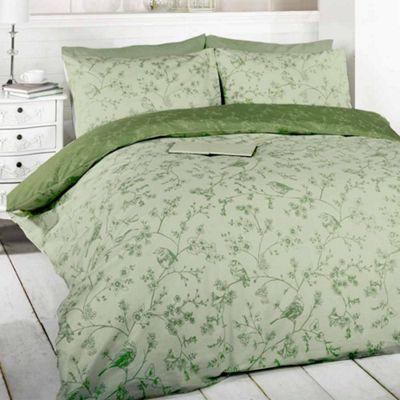 Rapport Bird Toile Green Duvet Cover Set - Single