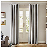 Tesco Faux Silk Curtains-   - 66x54 - Silver