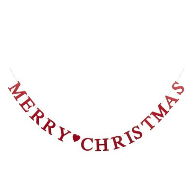 Red Wooden Merry Christmas Garland