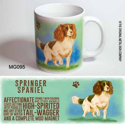 Original Metal Sign Co Mug Springer Spaniel
