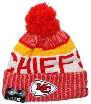 New Era Cap Co NFL Sideline Bobble Knit 2017 Beanie - Kansas City Chiefs