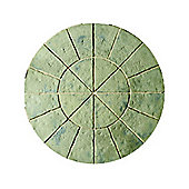 The Real Paving Company Balmoral Circle Kit, Rustic Sage 1.8M