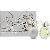 Nina Ricci L'air Du Temps Gift Set 50ml EDT + 100ml Body Lotion For Women