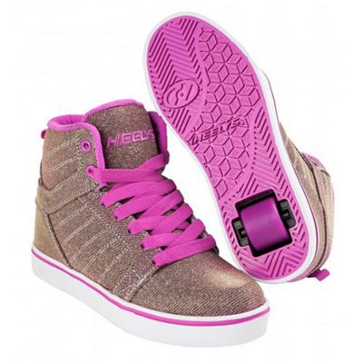 Heelys Uptown Gold/Purple Colourshift Kids Heely Shoe JNR 12