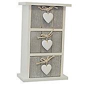 Provence - Bedroom Storage Trinket Drawer Chest - White / Grey