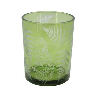 Green Fern Tea Light Holder