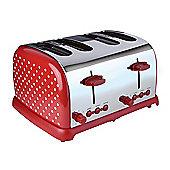 KitchenOriginals by Kalorik Red Polka Dot Four Slice Toaster